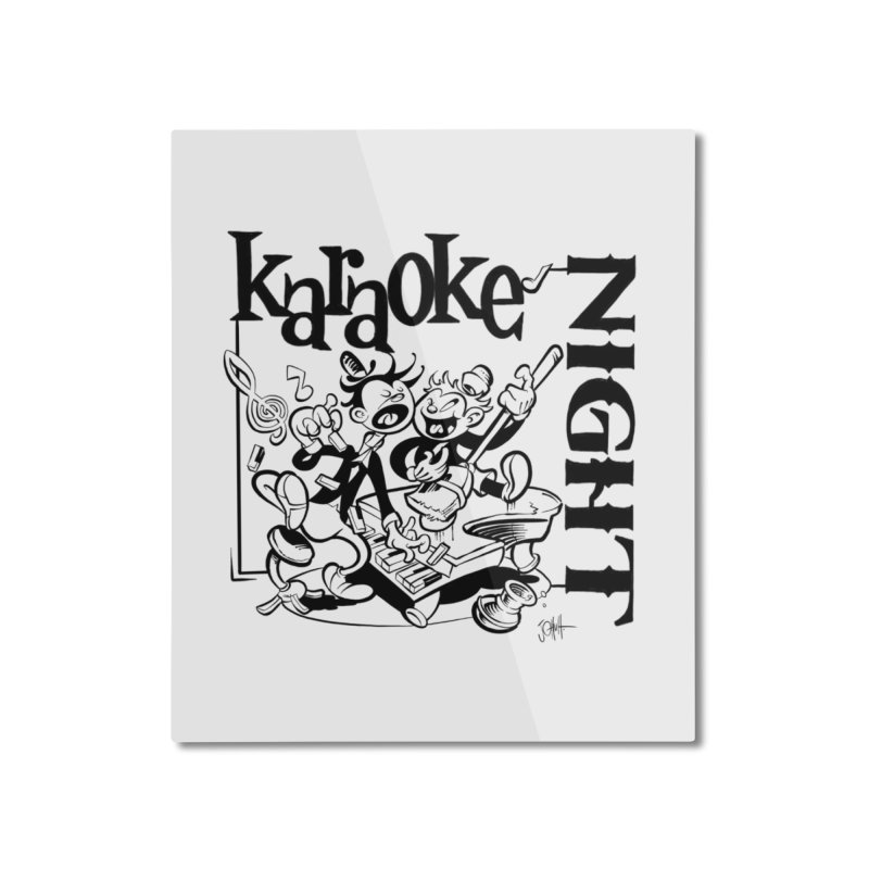 karaoke night Home Mounted Aluminum Print by goofyink's Artist Shop