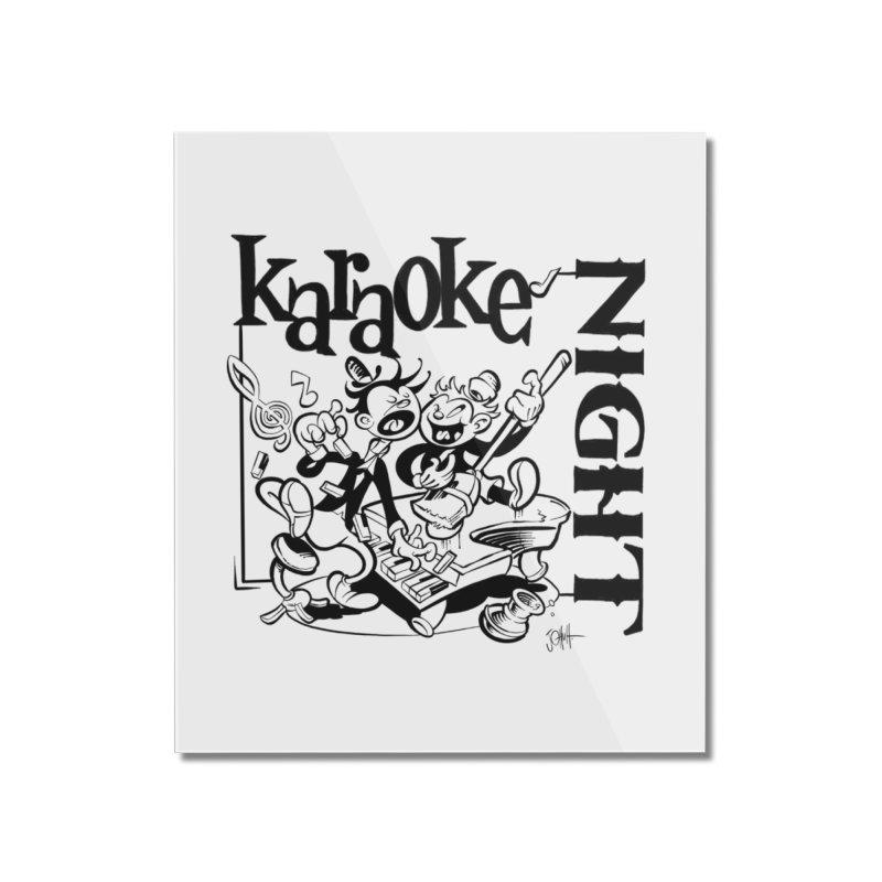 karaoke night Home Mounted Acrylic Print by goofyink's Artist Shop
