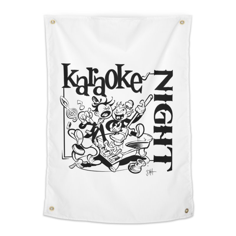 karaoke night Home Tapestry by goofyink's Artist Shop