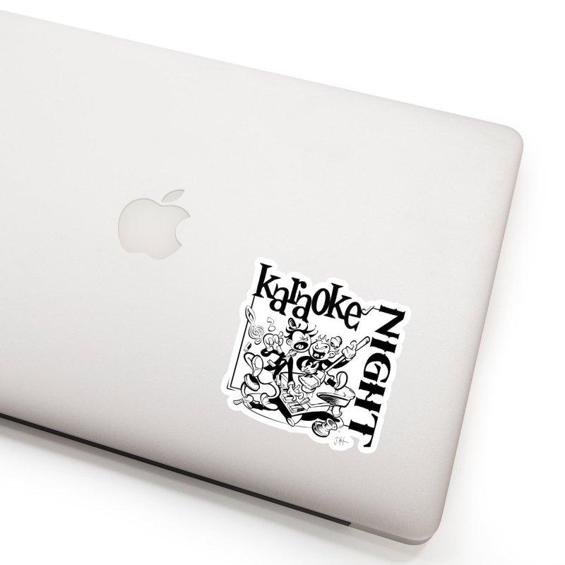 karaoke night Accessories Sticker by goofyink's Artist Shop
