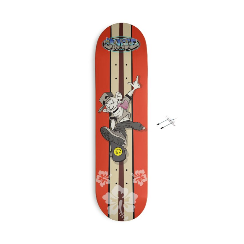 Skater Dude Accessories With Hanging Hardware Skateboard by goofyink's Artist Shop