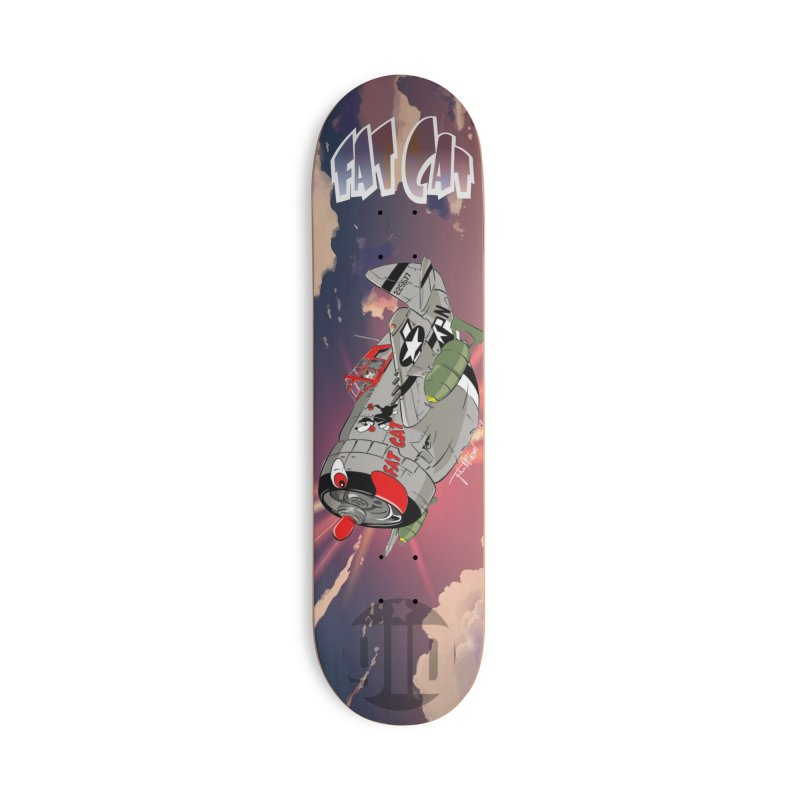 Fat Cat Accessories Deck Only Skateboard by goofyink's Artist Shop