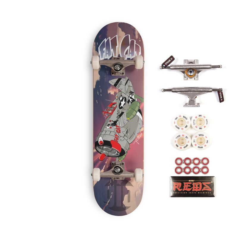Fat Cat Accessories Complete - Pro Skateboard by goofyink's Artist Shop