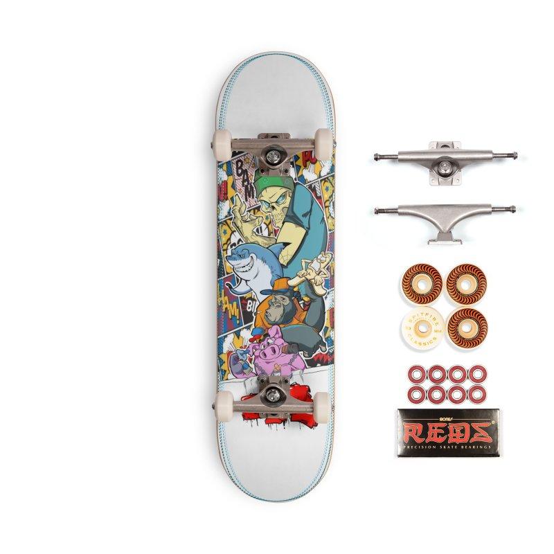 Skater Dudes Accessories Skateboard by goofyink's Artist Shop