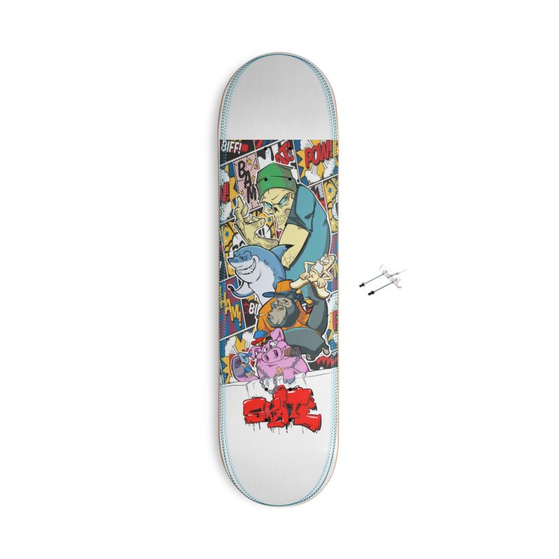 Skater Dudes Accessories With Hanging Hardware Skateboard by goofyink's Artist Shop