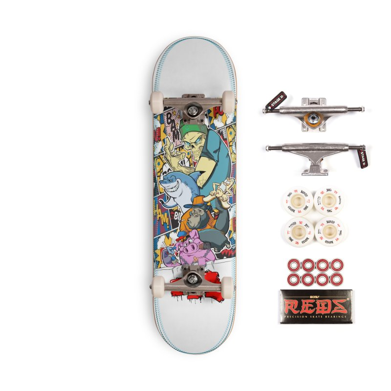 Skater Dudes Accessories Complete - Pro Skateboard by goofyink's Artist Shop