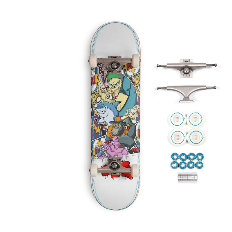 Skater Dudes Accessories Complete - Basic Skateboard by goofyink's Artist Shop