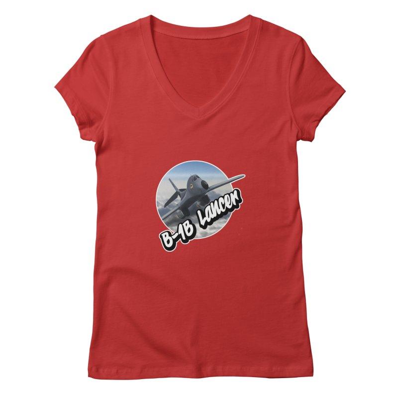 B1B Lancer Women's V-Neck by goofyink's Artist Shop