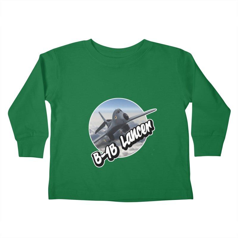 B1B Lancer Kids Toddler Longsleeve T-Shirt by goofyink's Artist Shop