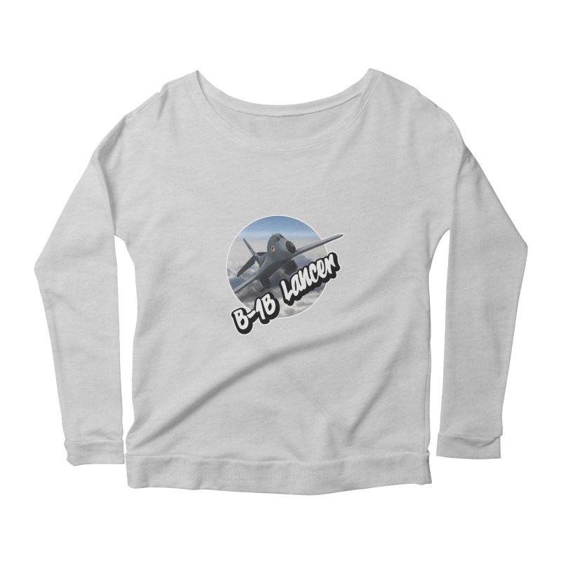 B1B Lancer Women's Scoop Neck Longsleeve T-Shirt by goofyink's Artist Shop