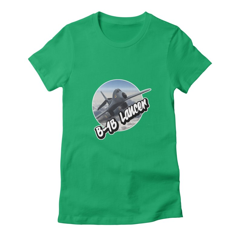 B1B Lancer Women's Fitted T-Shirt by goofyink's Artist Shop