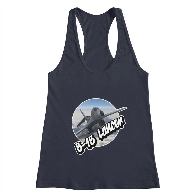 B1B Lancer Women's Racerback Tank by goofyink's Artist Shop