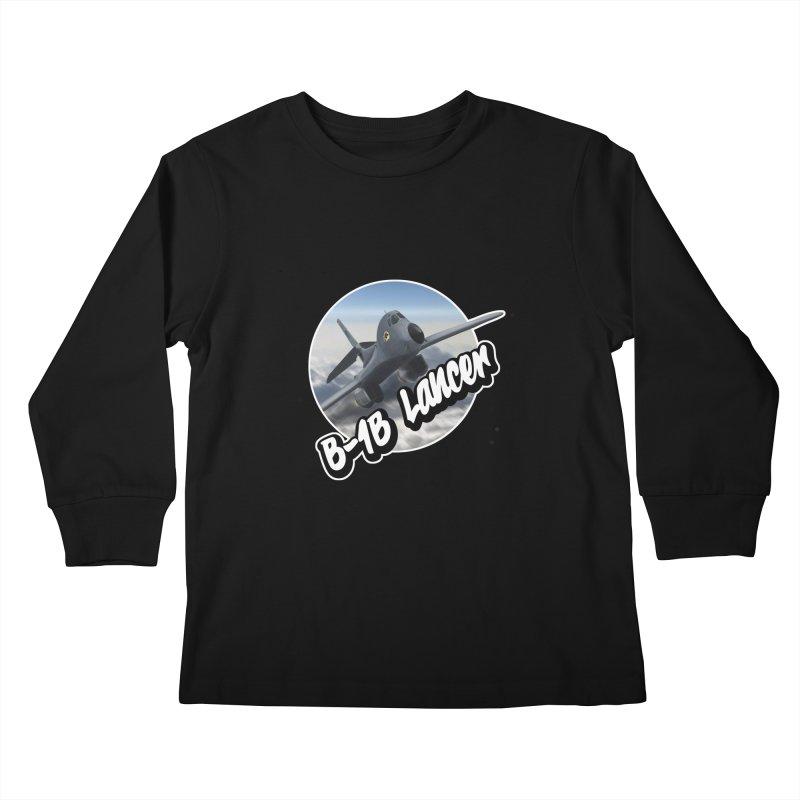 B1B Lancer Kids Longsleeve T-Shirt by goofyink's Artist Shop