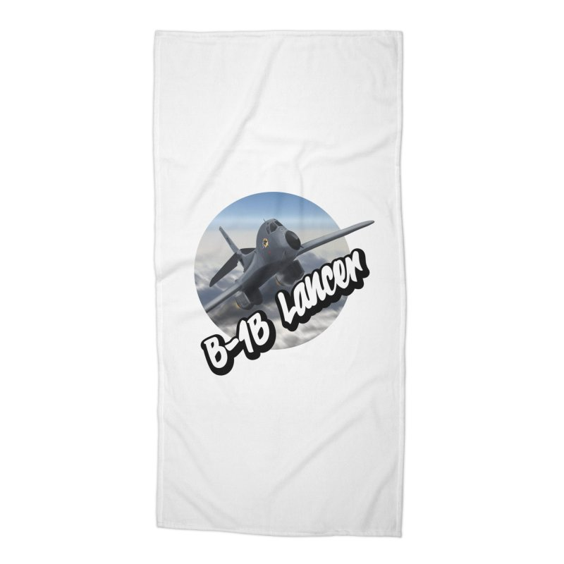 B1B Lancer Accessories Beach Towel by goofyink's Artist Shop
