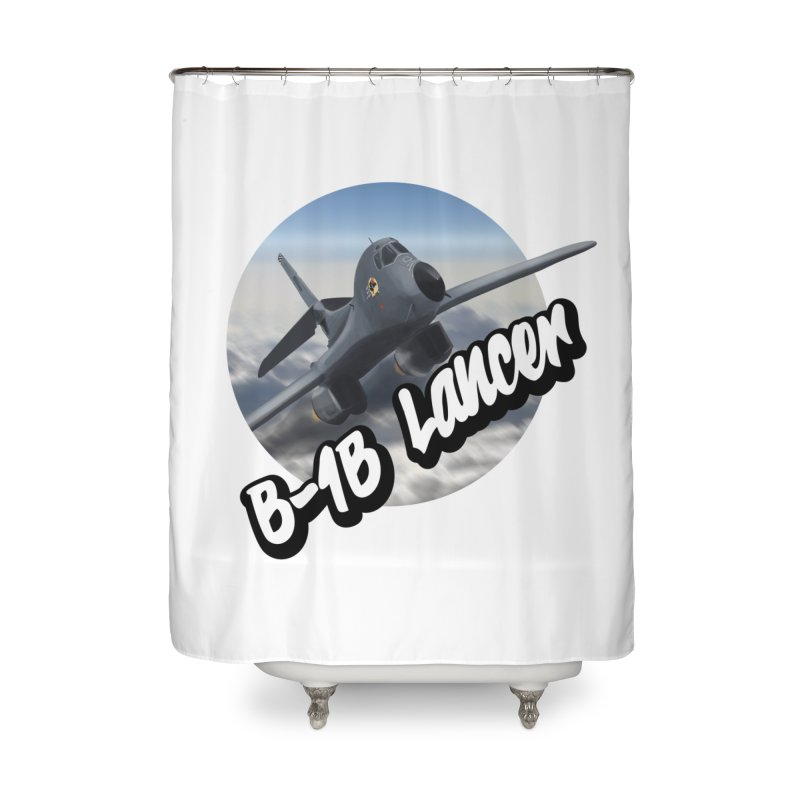 B1B Lancer Home Shower Curtain by goofyink's Artist Shop