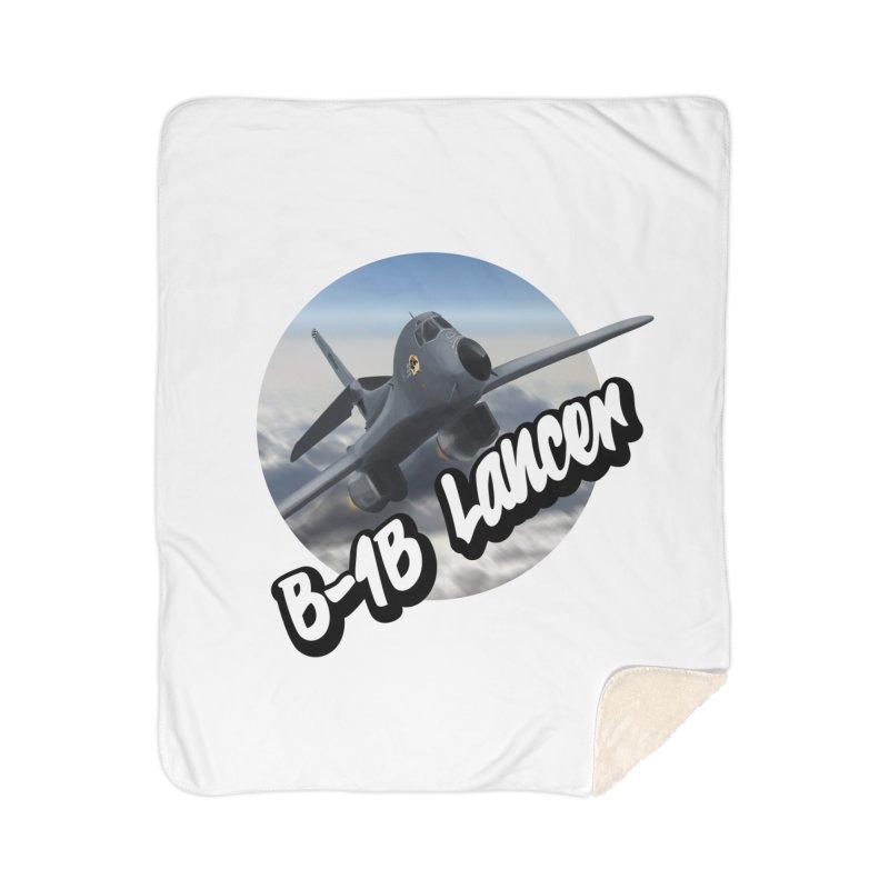 B1B Lancer Home Sherpa Blanket Blanket by goofyink's Artist Shop