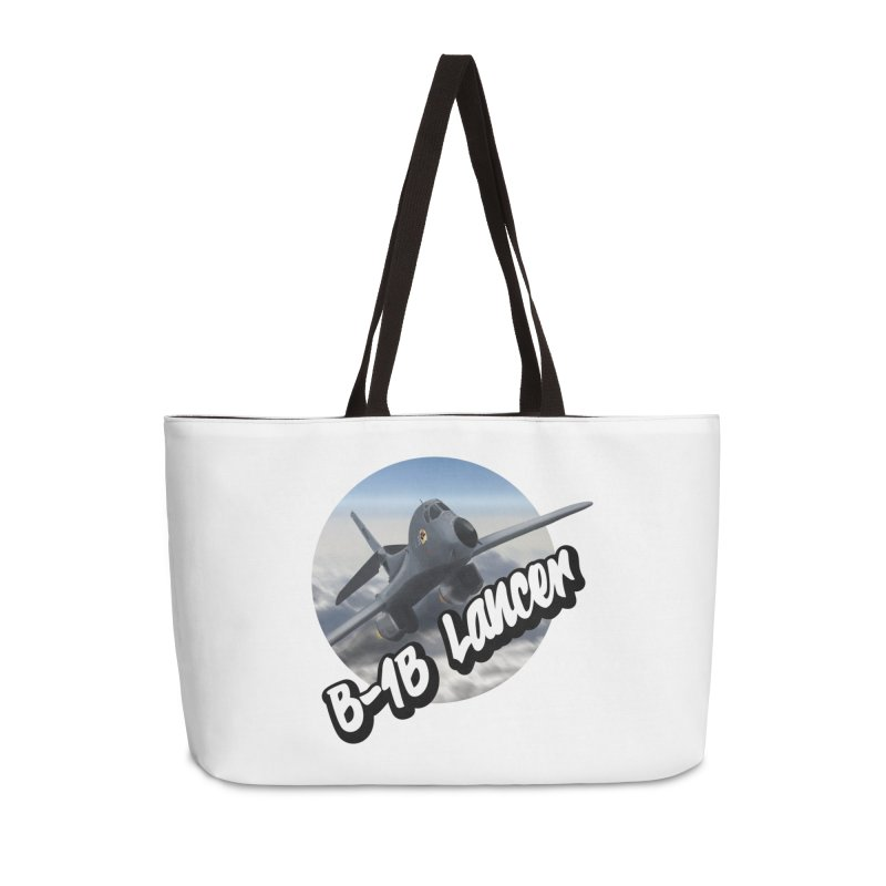 B1B Lancer Accessories Weekender Bag Bag by goofyink's Artist Shop