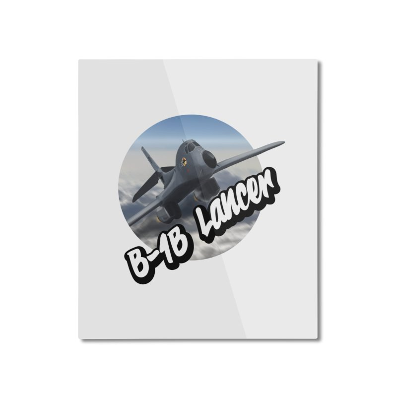 B1B Lancer Home Mounted Aluminum Print by goofyink's Artist Shop