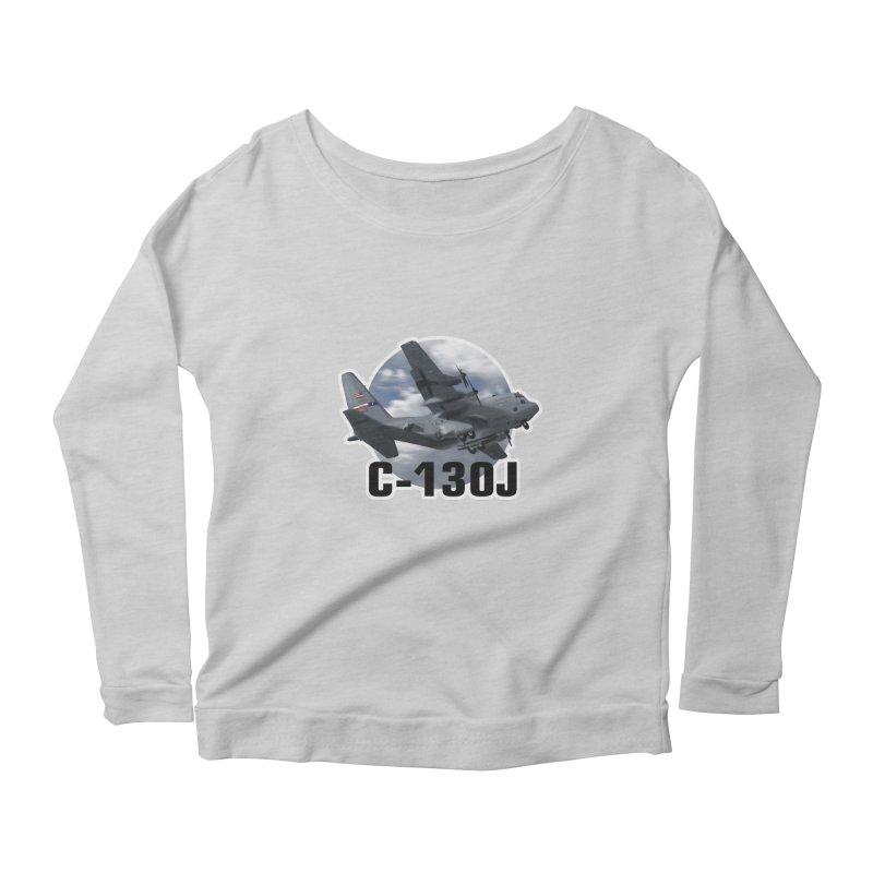 C130 Women's Scoop Neck Longsleeve T-Shirt by goofyink's Artist Shop