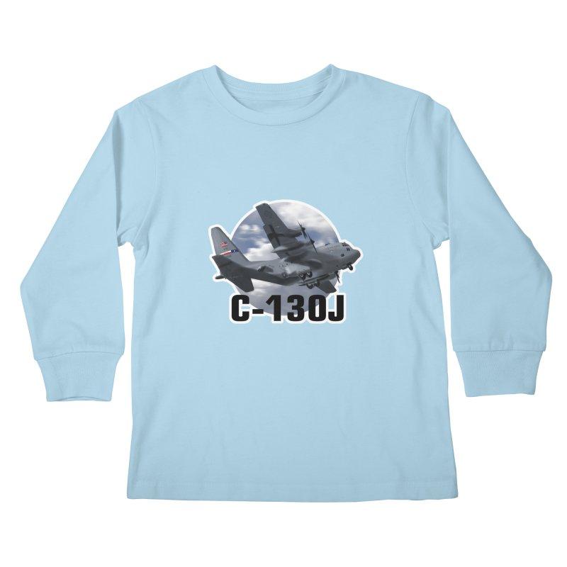 C130 Kids Longsleeve T-Shirt by goofyink's Artist Shop