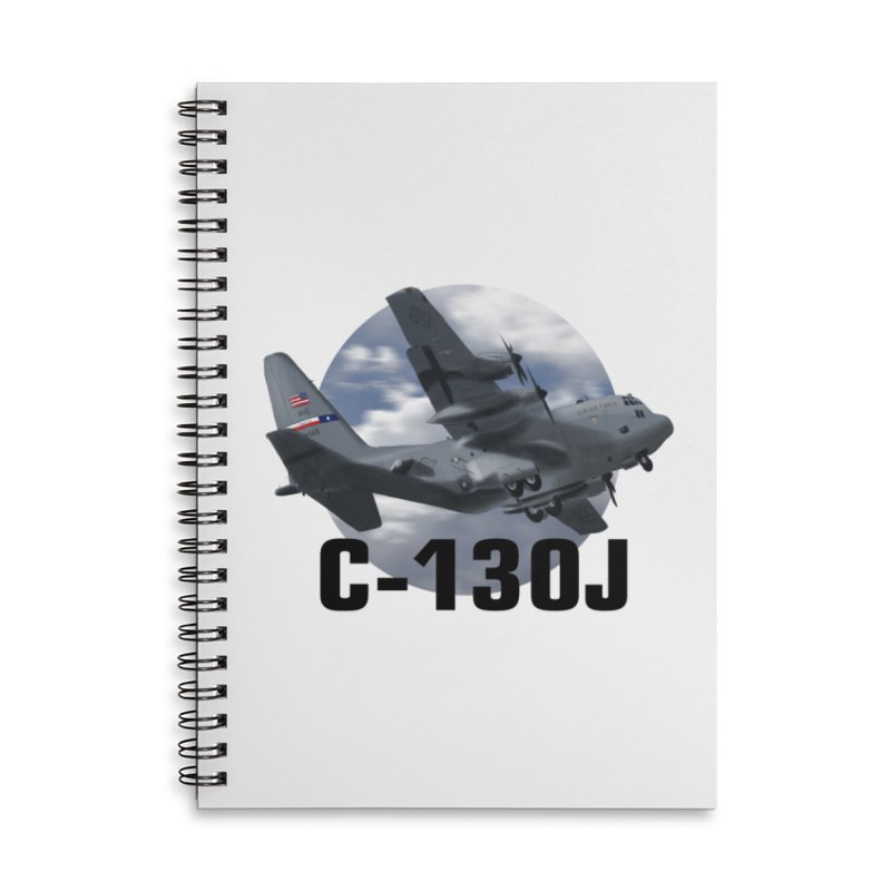 C130 Accessories Lined Spiral Notebook by goofyink's Artist Shop