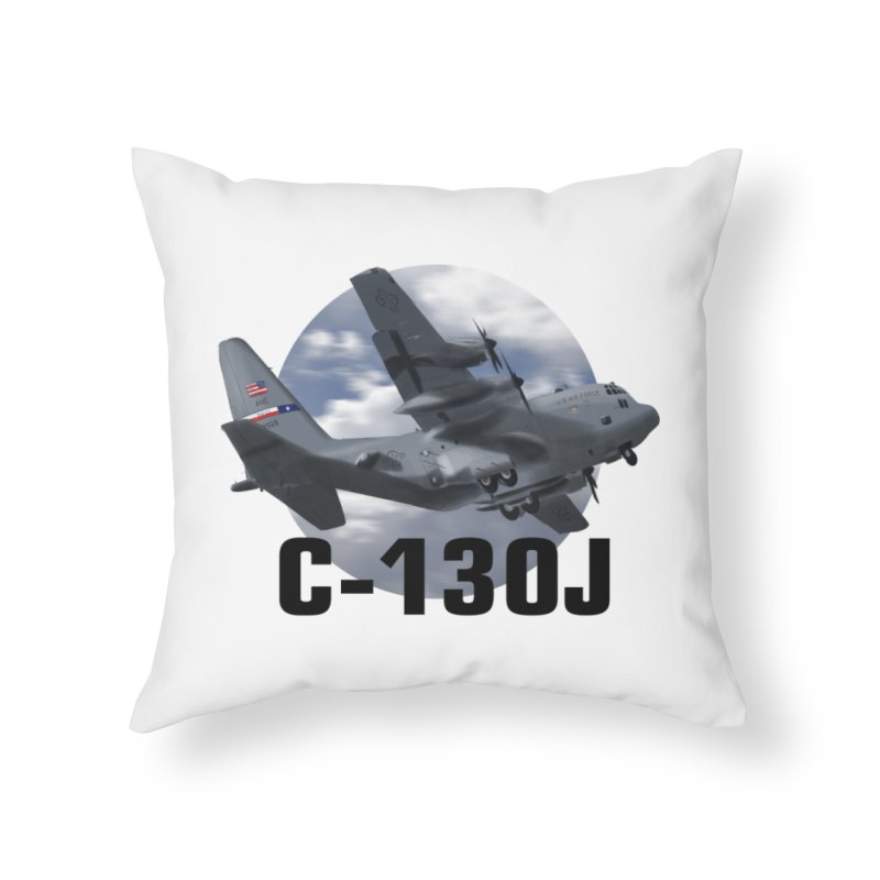 C130 Home Throw Pillow by goofyink's Artist Shop
