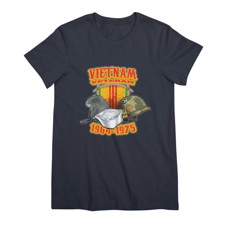 Veteran's Honor Women's Premium T-Shirt by goofyink's Artist Shop