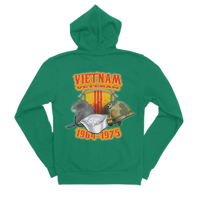 Veteran's Honor Women's Sponge Fleece Zip-Up Hoody by goofyink's Artist Shop
