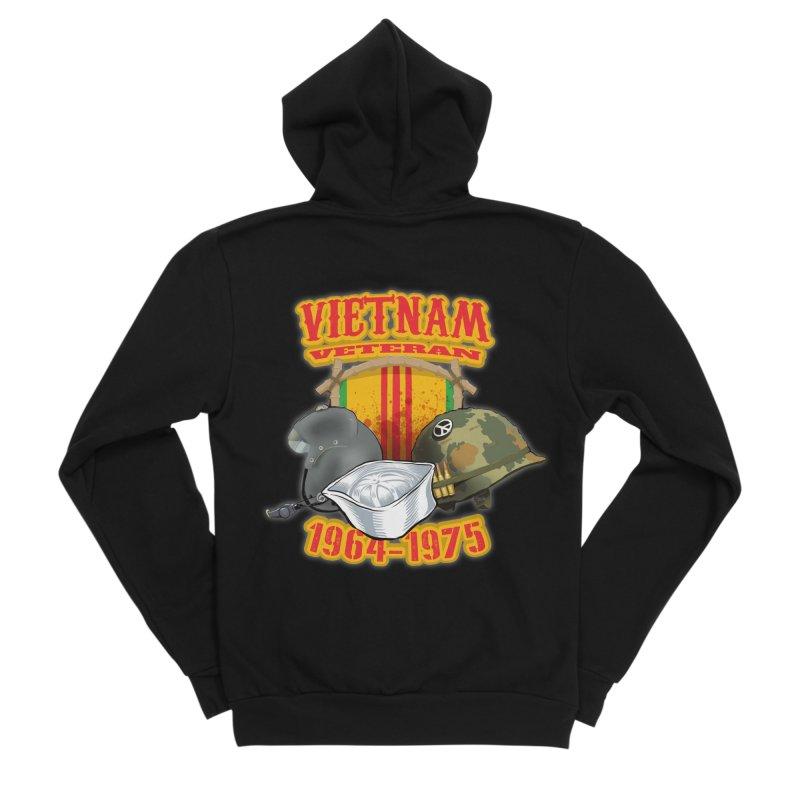Veteran's Honor Men's Sponge Fleece Zip-Up Hoody by goofyink's Artist Shop