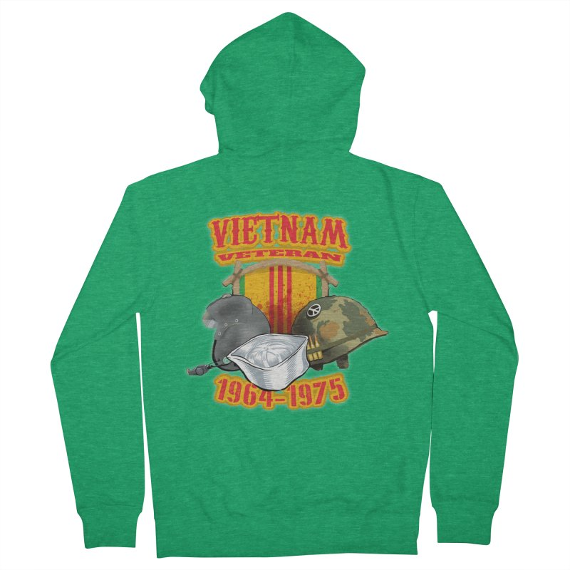 Veteran's Honor Women's French Terry Zip-Up Hoody by goofyink's Artist Shop