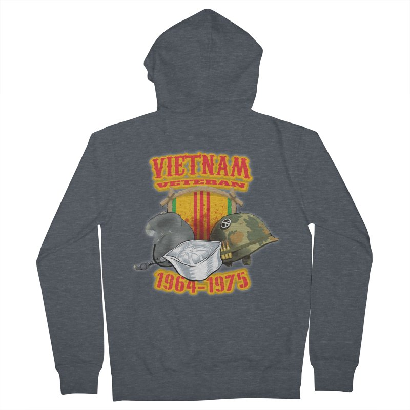 Veteran's Honor Men's French Terry Zip-Up Hoody by goofyink's Artist Shop