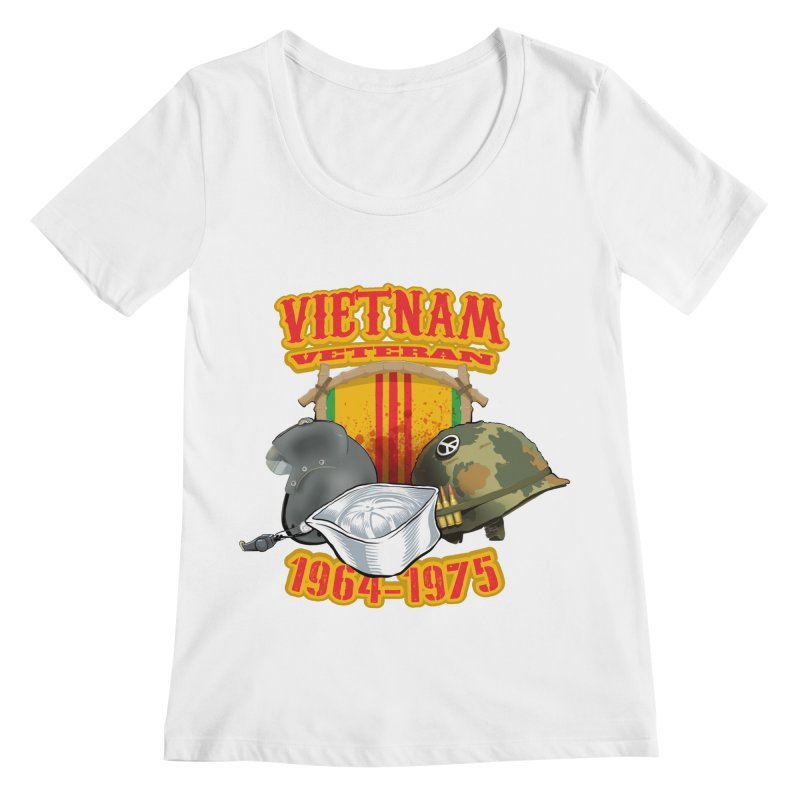 Veteran's Honor Women's Regular Scoop Neck by goofyink's Artist Shop
