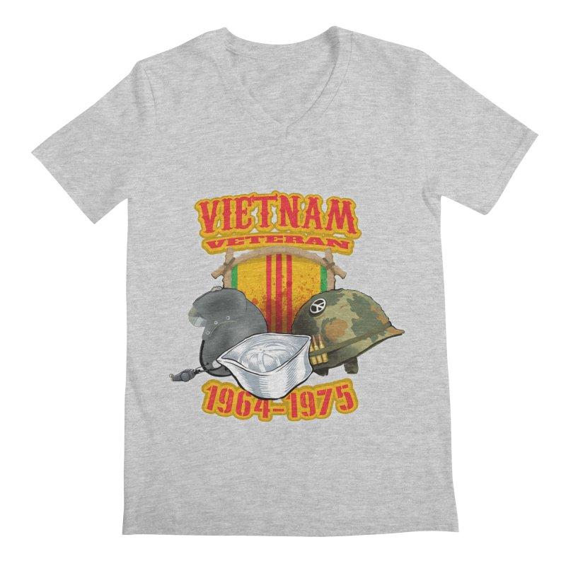 Veteran's Honor Men's V-Neck by goofyink's Artist Shop