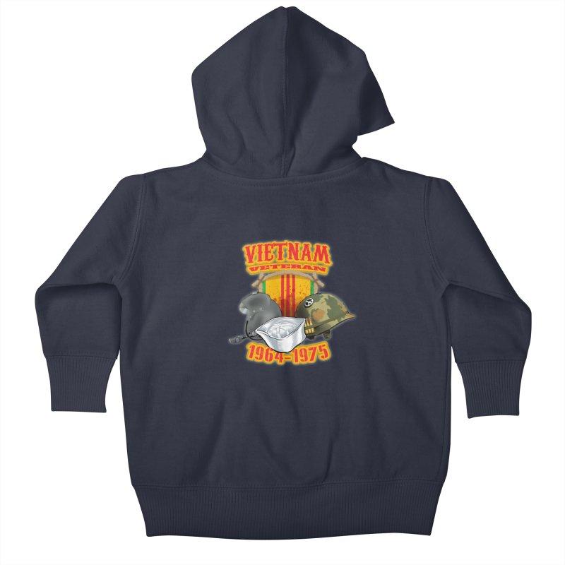 Veteran's Honor Kids Baby Zip-Up Hoody by goofyink's Artist Shop