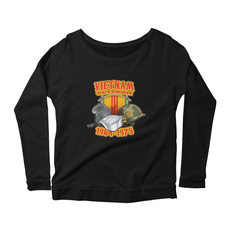 Veteran's Honor Women's Scoop Neck Longsleeve T-Shirt by goofyink's Artist Shop