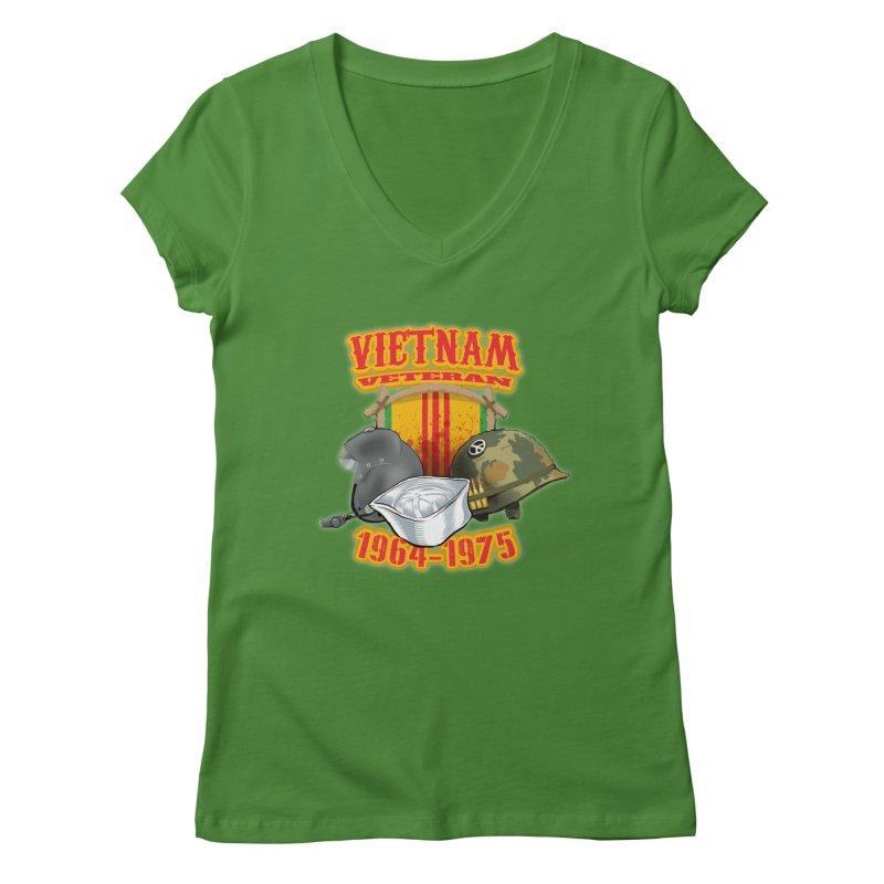 Veteran's Honor Women's V-Neck by goofyink's Artist Shop