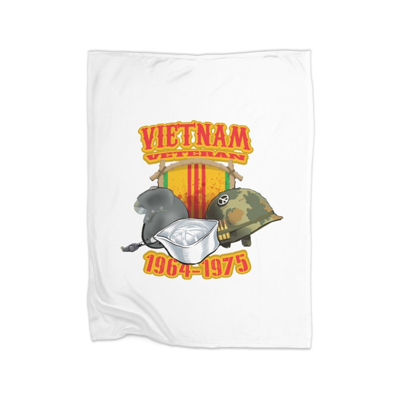 Veteran's Honor Home Fleece Blanket Blanket by goofyink's Artist Shop