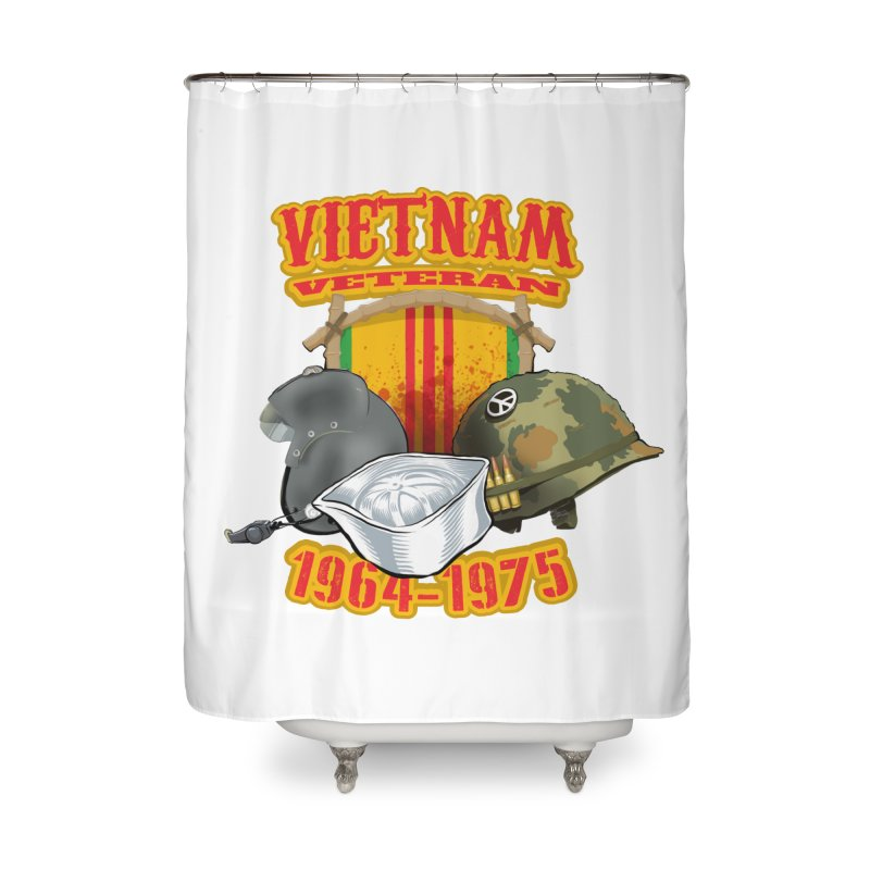 Veteran's Honor Home Shower Curtain by goofyink's Artist Shop