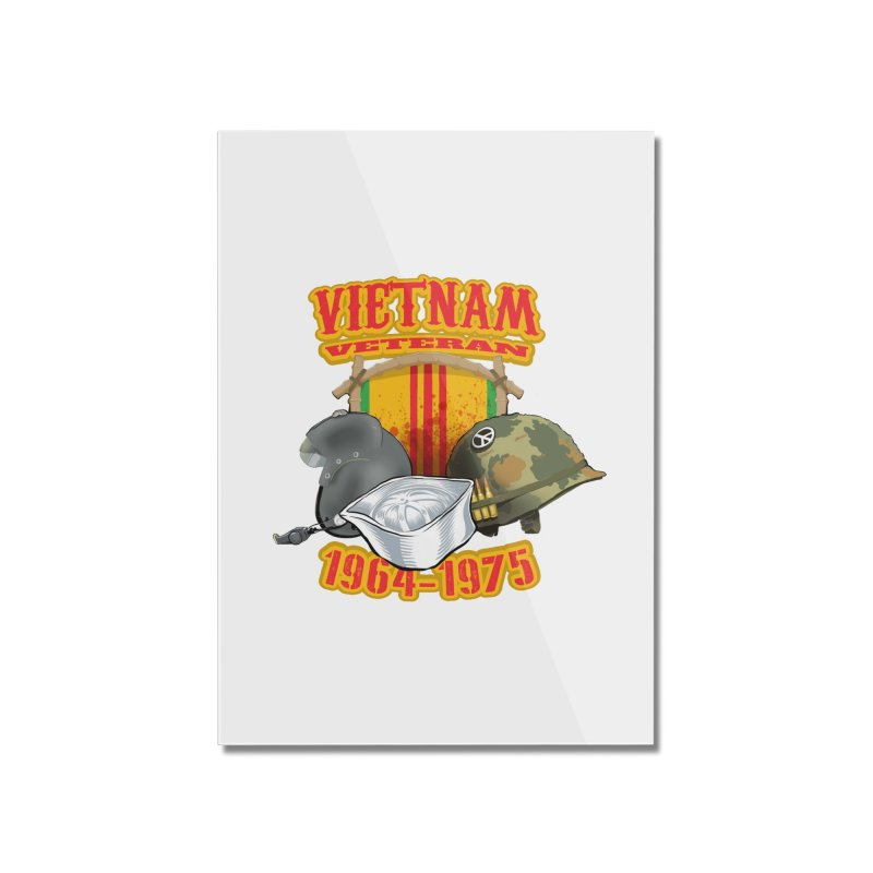 Veteran's Honor Home Mounted Acrylic Print by goofyink's Artist Shop