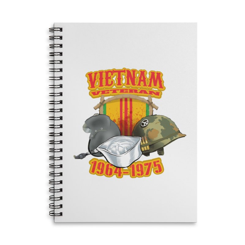 Veteran's Honor Accessories Lined Spiral Notebook by goofyink's Artist Shop
