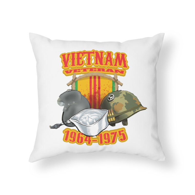 Veteran's Honor Home Throw Pillow by goofyink's Artist Shop