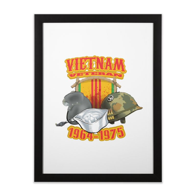 Veteran's Honor Home Framed Fine Art Print by goofyink's Artist Shop