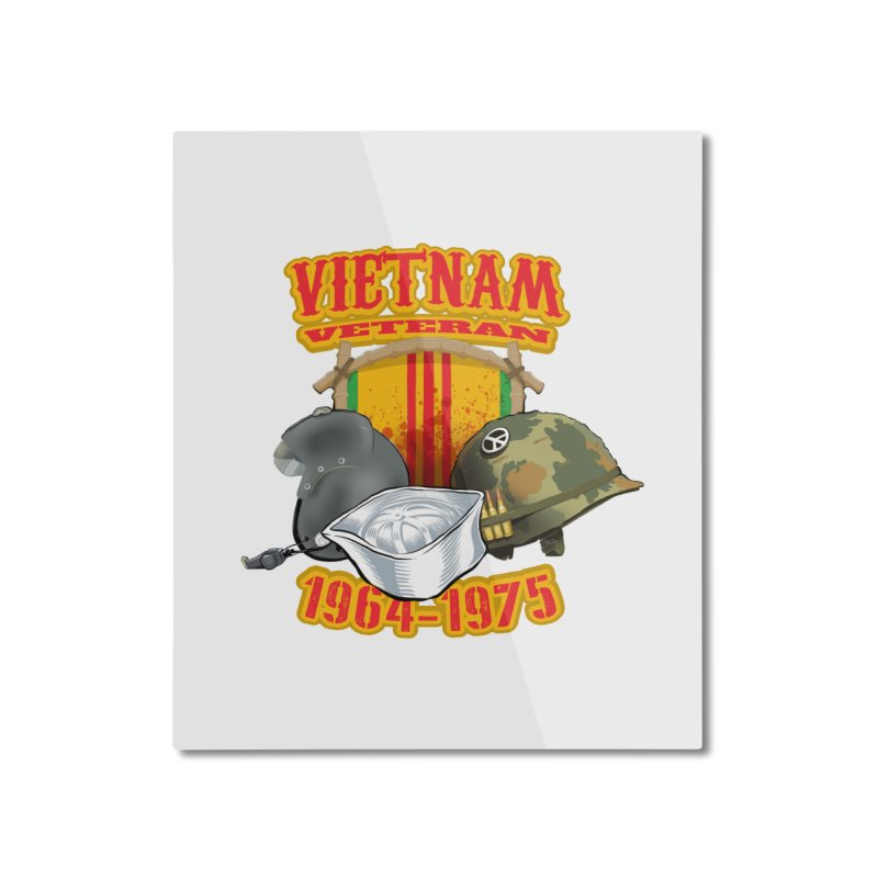 Veteran's Honor Home Mounted Aluminum Print by goofyink's Artist Shop