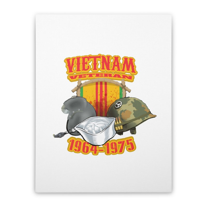 Veteran's Honor Home Stretched Canvas by goofyink's Artist Shop