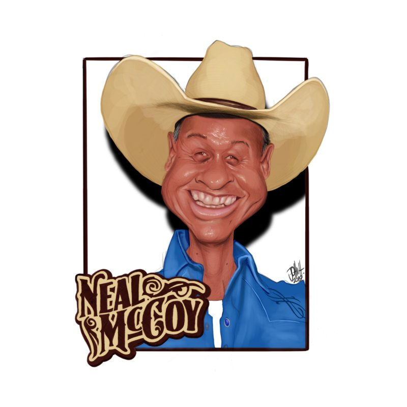 Country Legends Neal McCoy Women's V-Neck by goofyink's Artist Shop