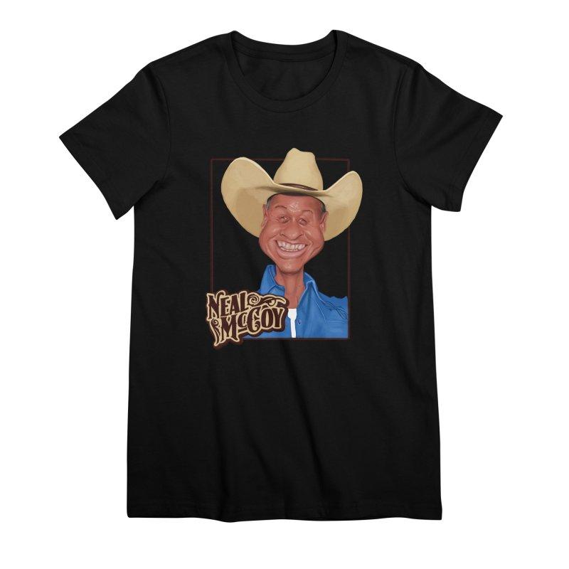 Country Legends Neal McCoy Women's Premium T-Shirt by goofyink's Artist Shop