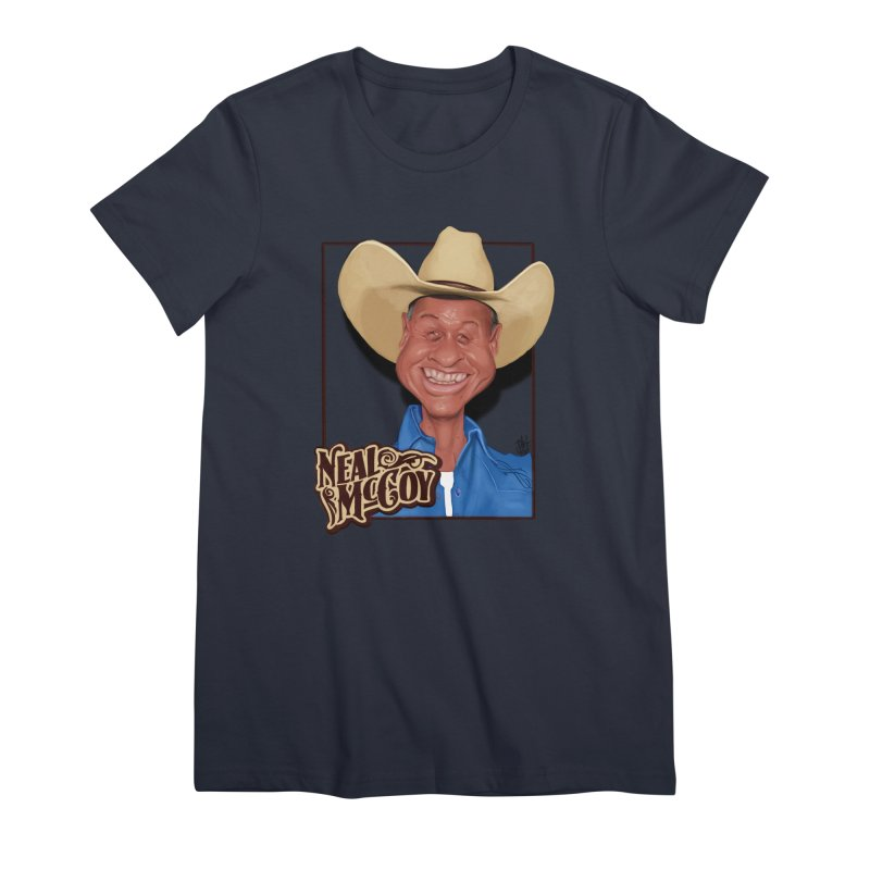 Country Legends Neal McCoy Women's Premium T-Shirt by goofyink's Artist Shop