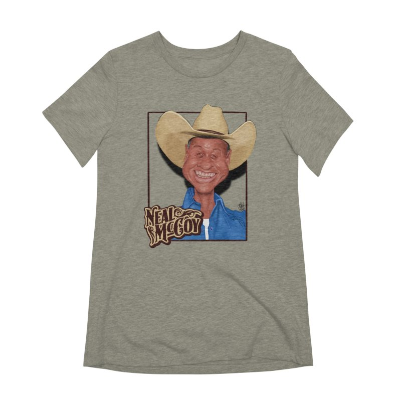 Country Legends Neal McCoy Women's Extra Soft T-Shirt by goofyink's Artist Shop