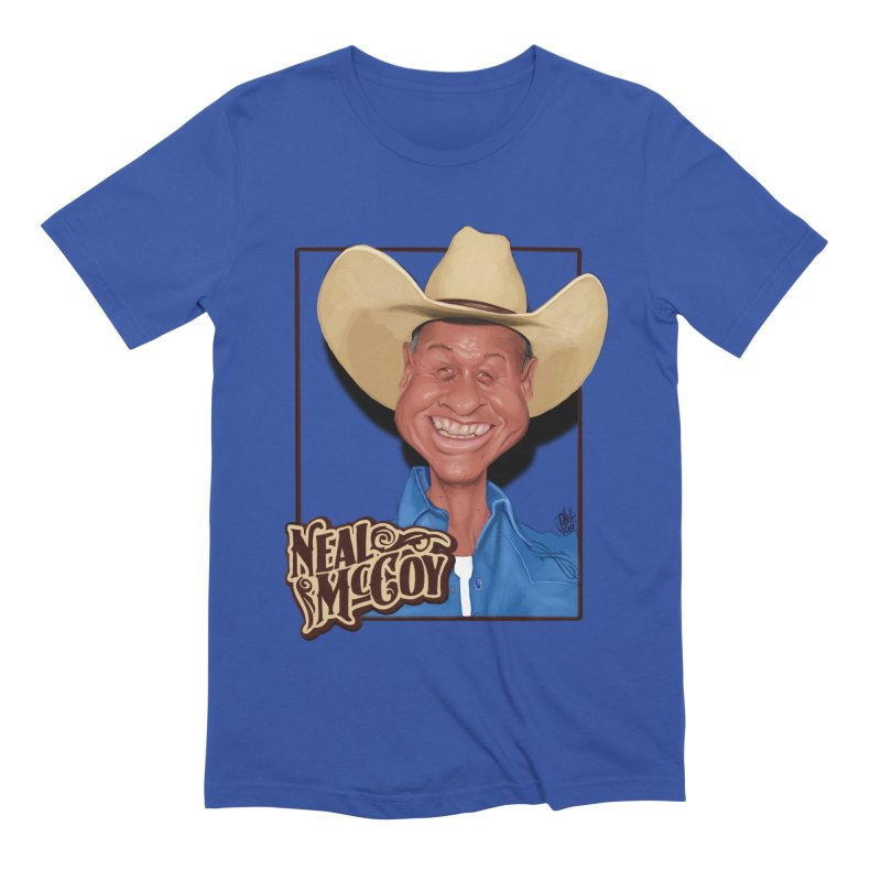 Country Legends Neal McCoy Men's Extra Soft T-Shirt by goofyink's Artist Shop