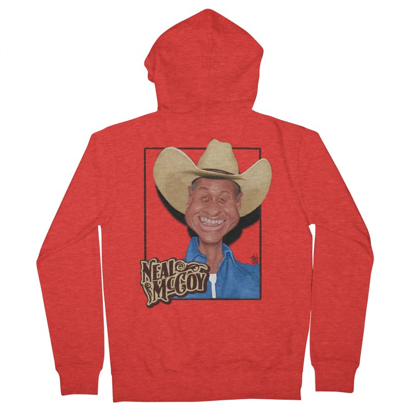 Country Legends Neal McCoy Women's Zip-Up Hoody by goofyink's Artist Shop